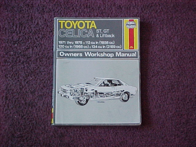 toyheadauto com first generation toyota celica parts 1971 to 1977 haynes repair manual for celica 1971 to 1977