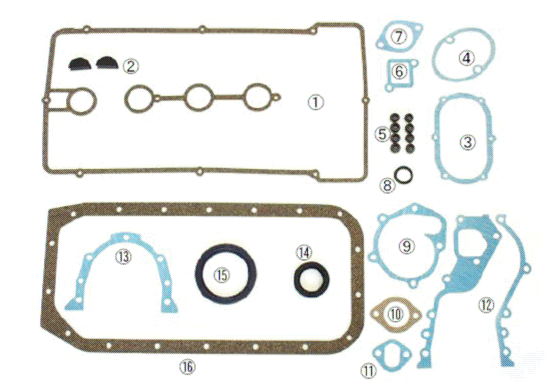 2TG Engine Gasket Kit